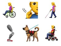 Apple's new accessibility emoji set