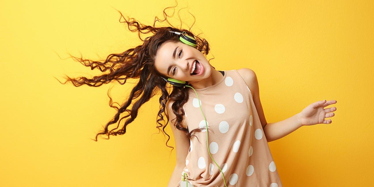 music, listen, happy