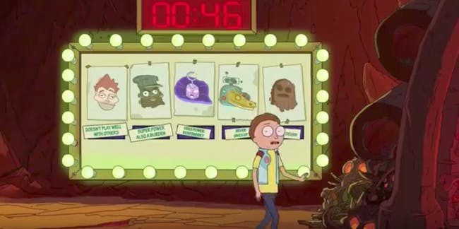 Only Morty can understand the insanity of Drunk Rick.
