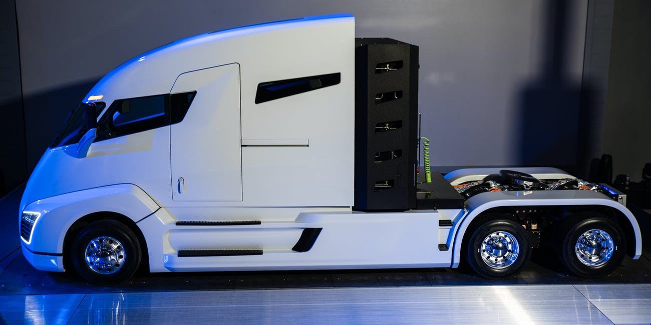 The Nikola One, an electric sleeper semi-truck.