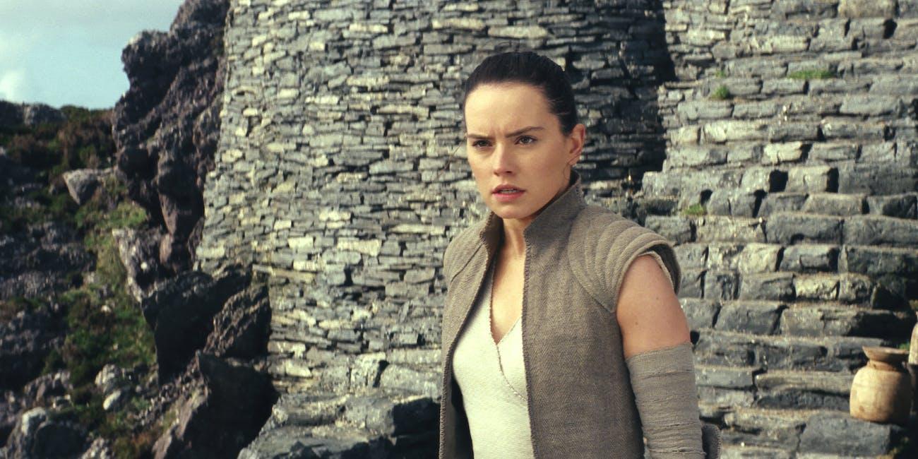 Rey in 'The Last Jedi'.