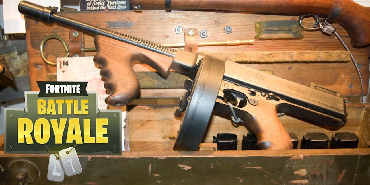fortnite drum gun tommy gun new weapon