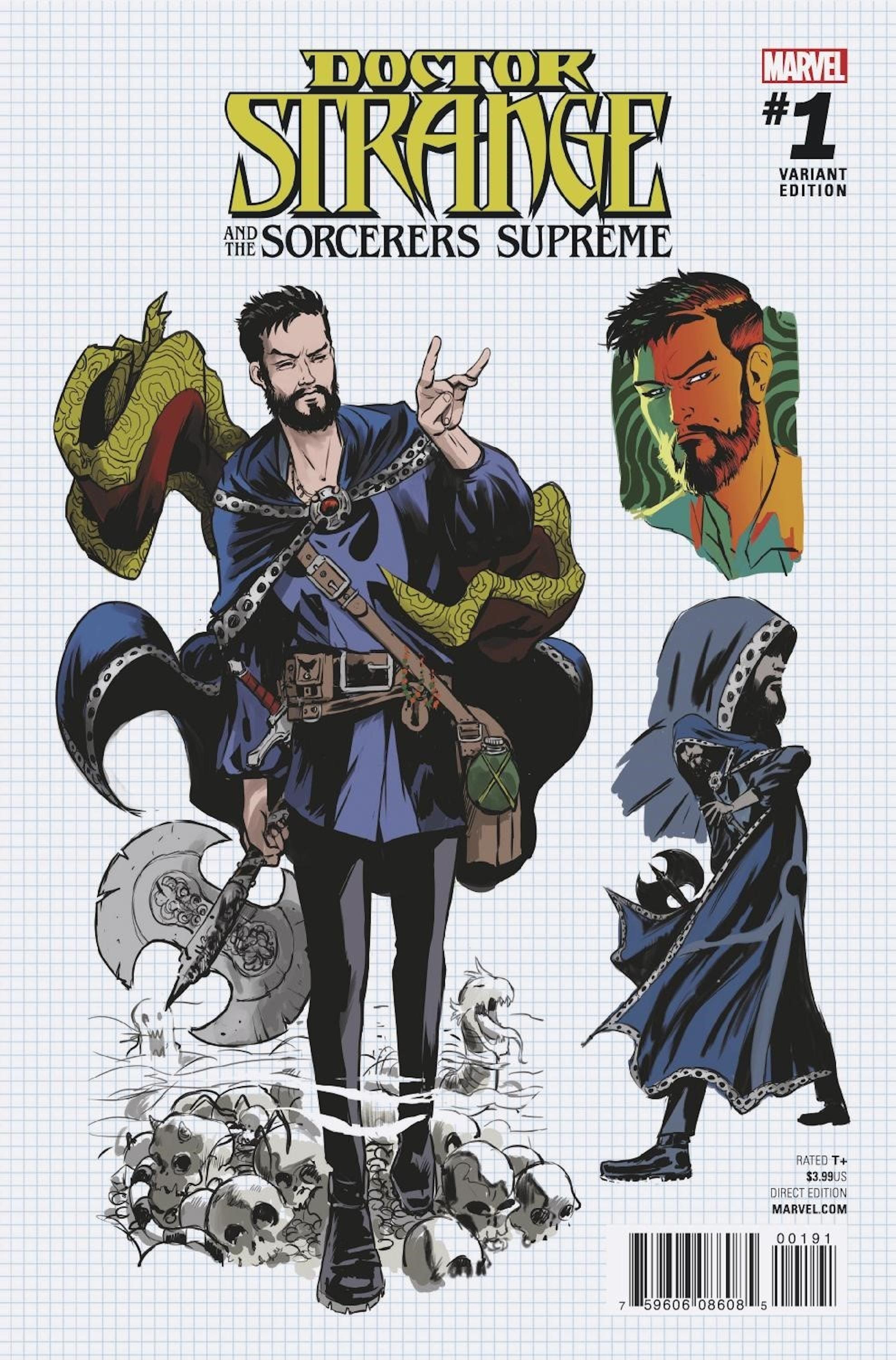 Variant cover for Marvel Comics' Doctor Strange and the Sorcerer Supremes