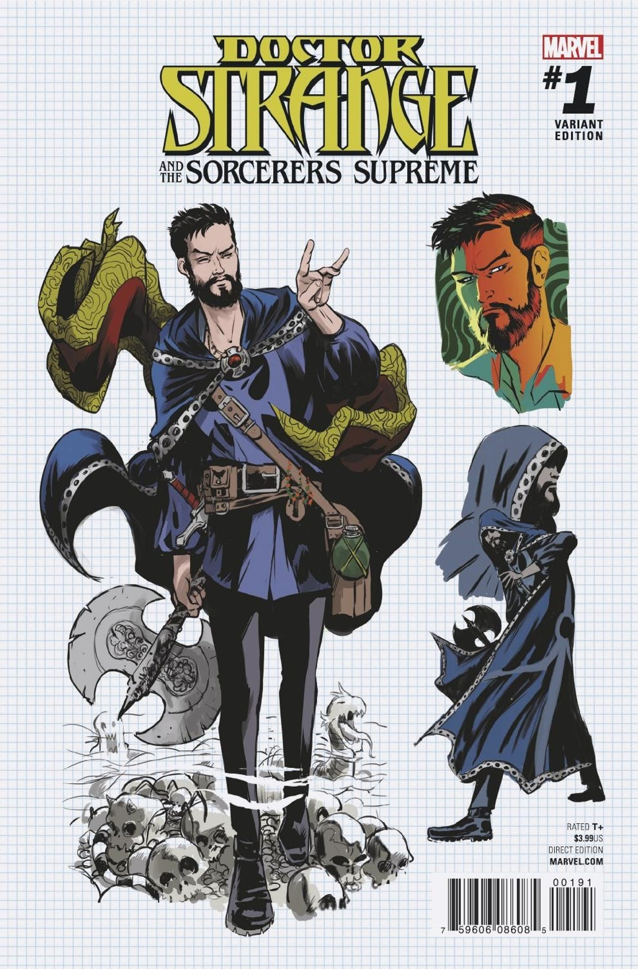 Variant cover for Marvel Comics' Doctor Strange and the Sorcerer Supremes