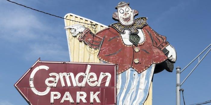 Camden Park sign
