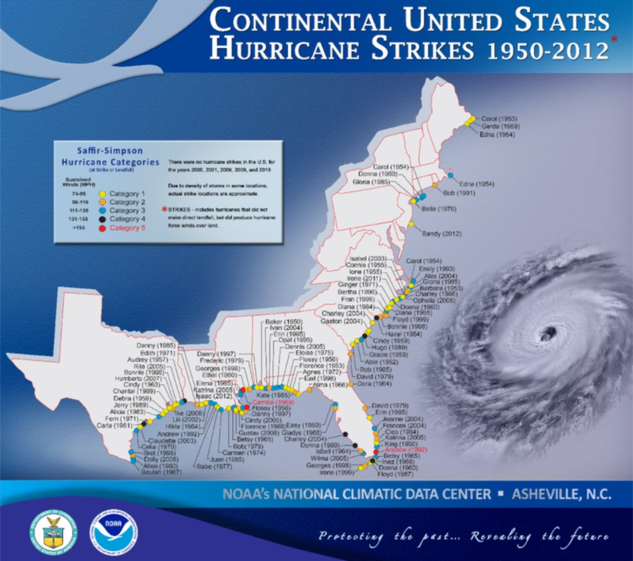 The southern United States is regularly affected by hurricanes.