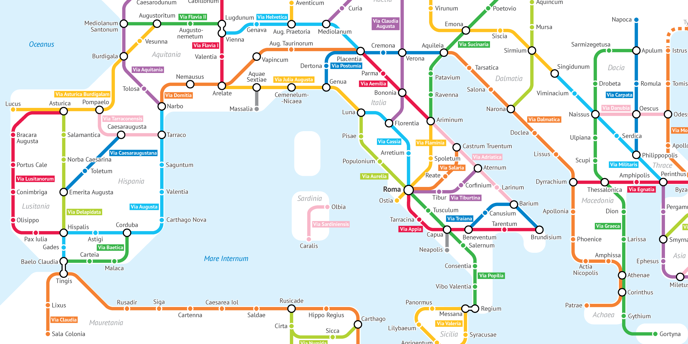 This Cartographer Turned Roman Roads Into a Modern Subway Map
