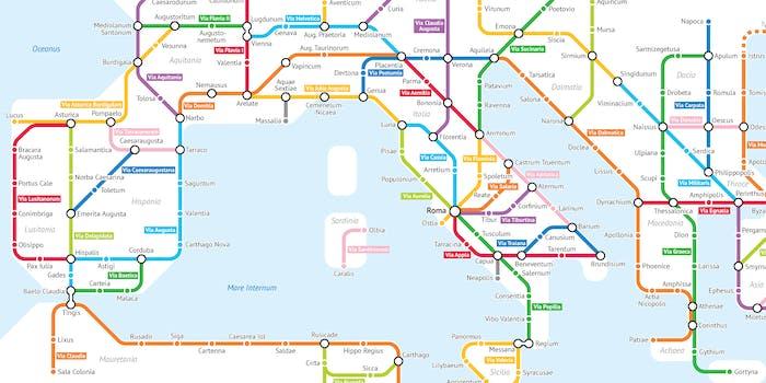 Roman Empire subway map visualization