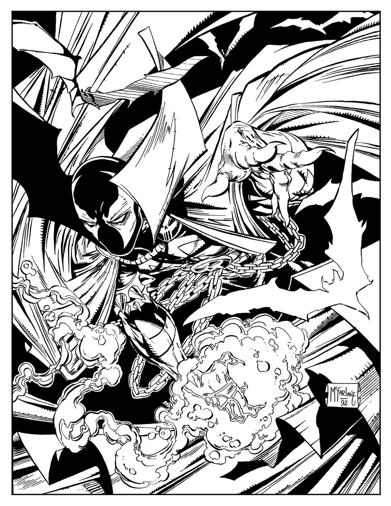 Image Comics Spawn Adult Coloring Book Is Accidental Man
