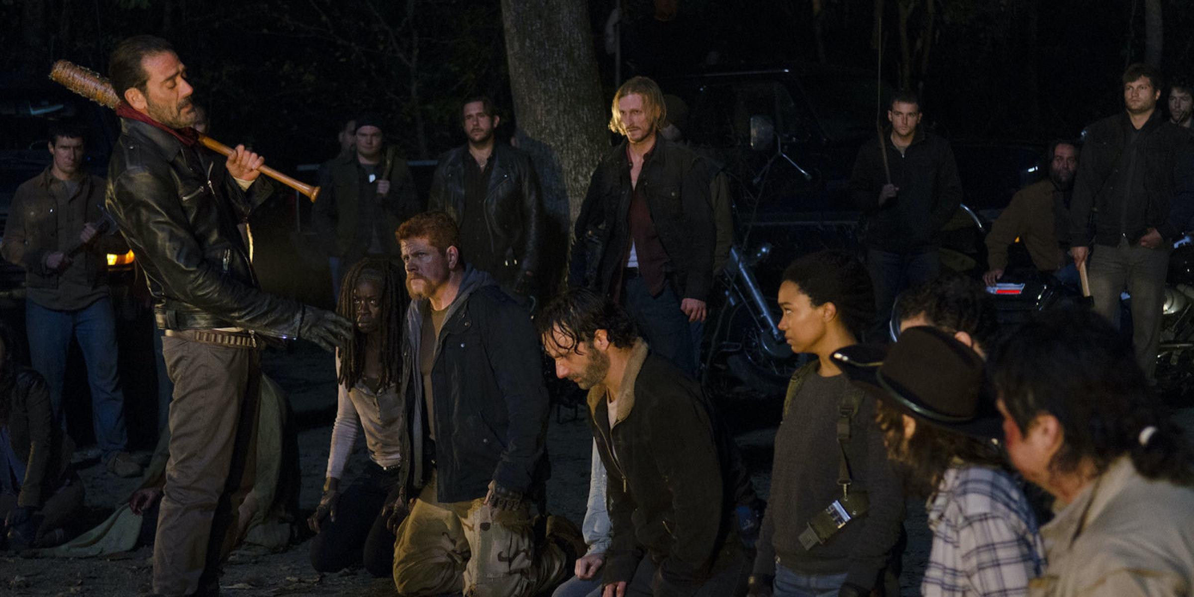 The Walking Dead Rick Negan Season 7
