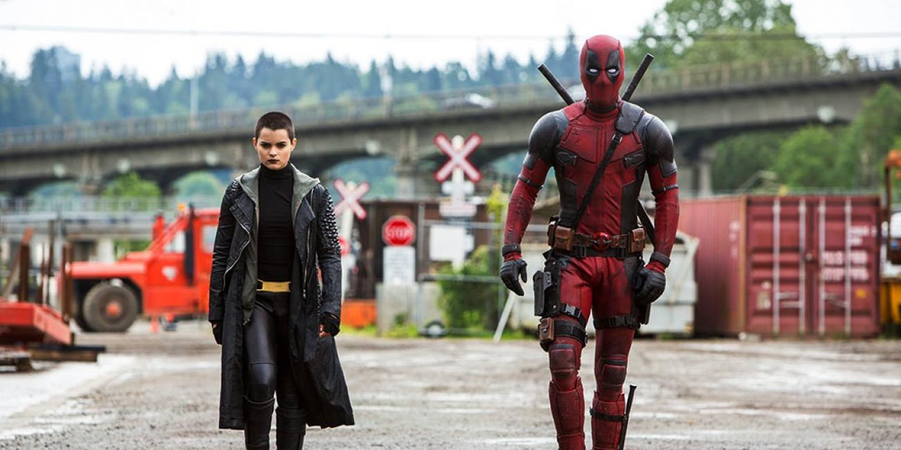 Ryan Reynolds as Deadpool, Brianna Hildebrand as Negasonic Teenage Warhead in Fox's Deadpool