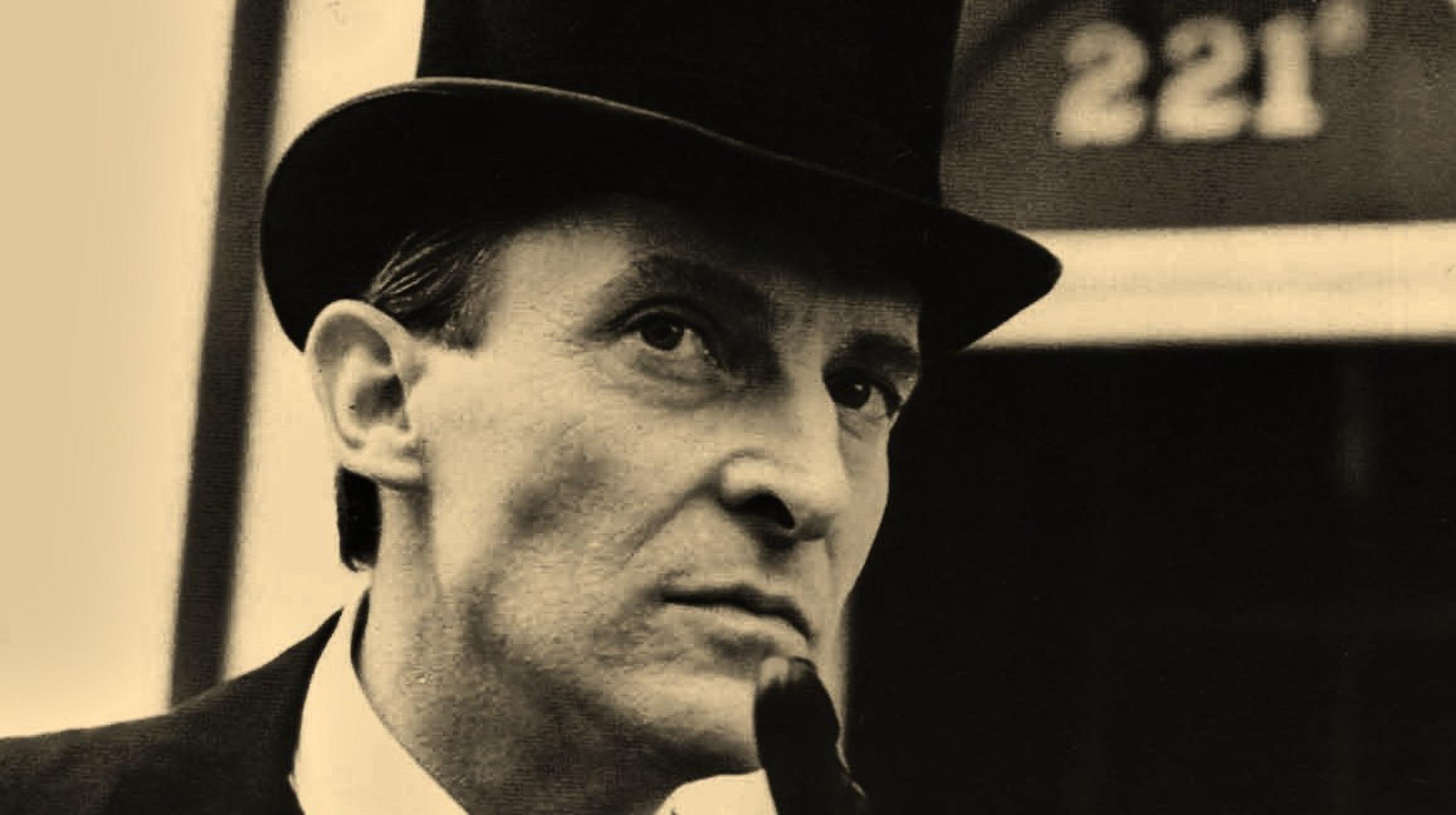 "Jeremy Brett as Sherlock Holmes in the 1984 ""Adventures of Sherlock Holmes"" series for Granada Television"
