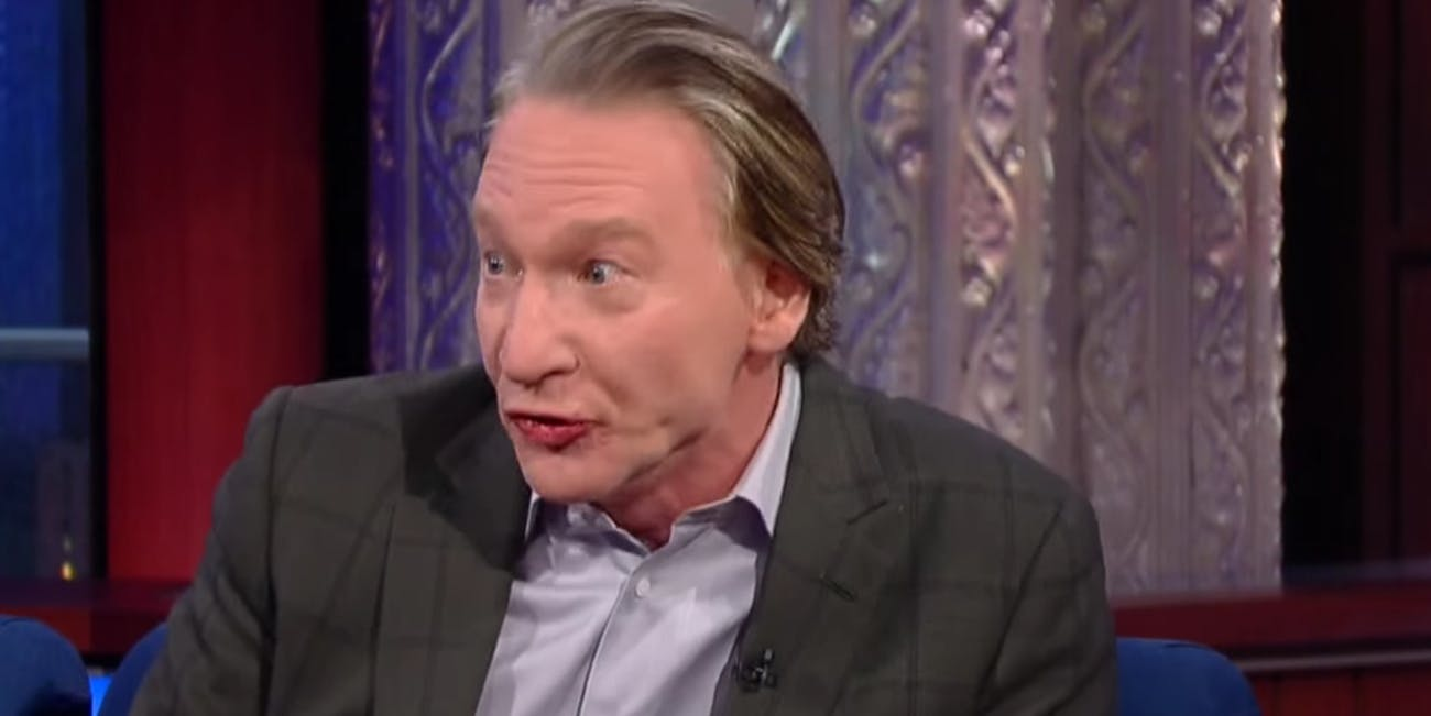 As Demonstrated on 'Colbert' Last Night, Bill Maher Sucks | Inverse