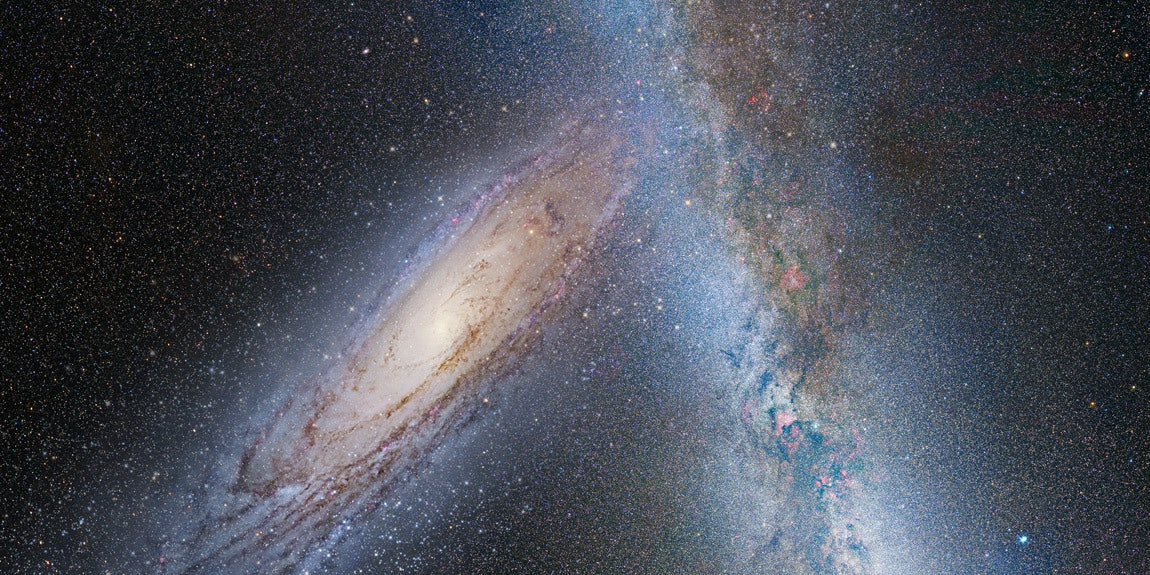 Andromeda and the Milky Way getting after it.