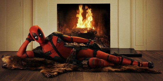 Promotional poster for Fox's Deadpool
