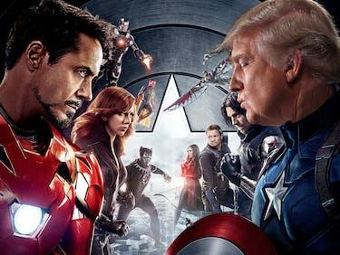 Watching 'Civil War' on Netflix? Remember Trump is Team Cap