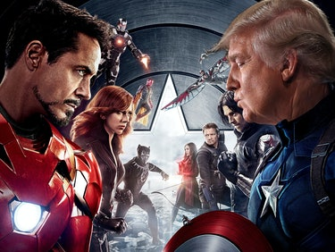 Watching 'Civil War' on Netflix? Remember Trump is Team Cap