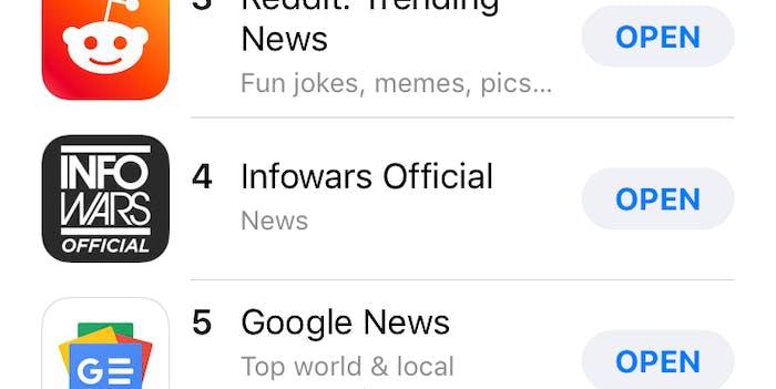 InfoWars App.