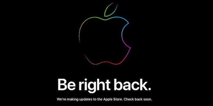 apple website head iphone announcement