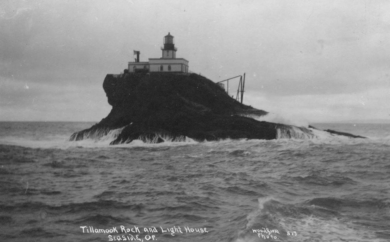 Tillamook Rock and Lighthouse in Seaside, Oregon.