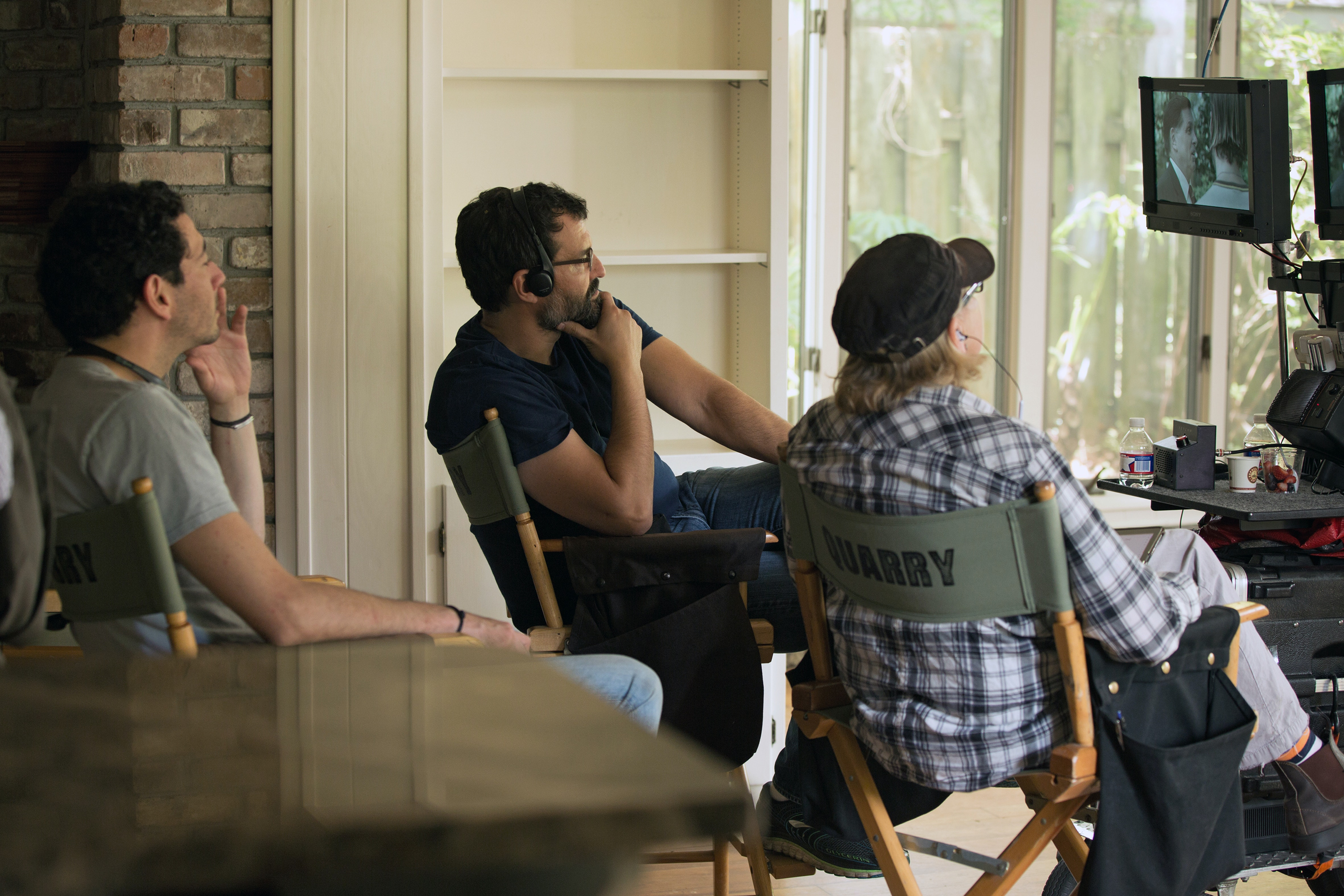 Yaitanes (center) on the set of  Quarry
