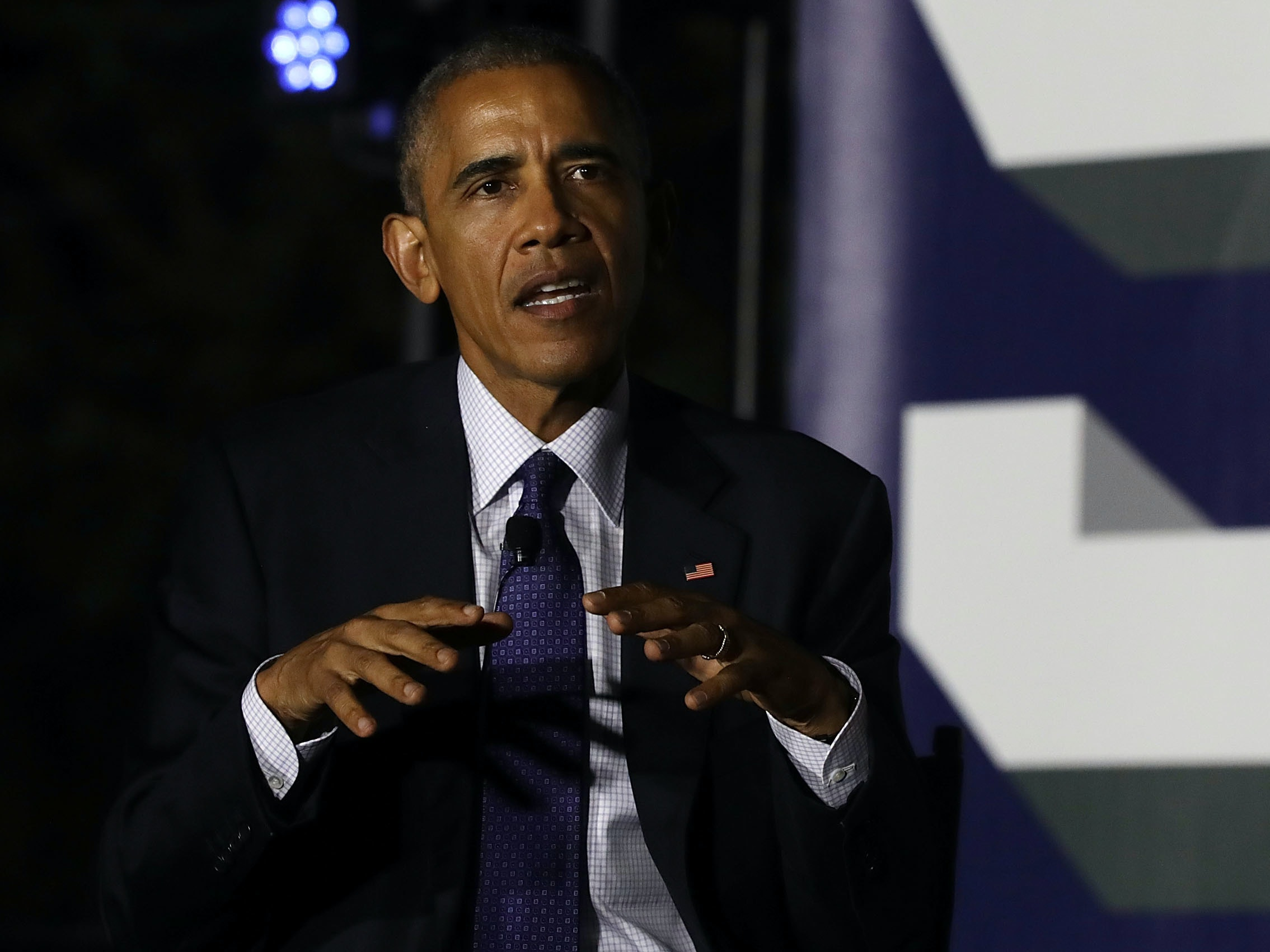 Obama discussed climate change at SXSL.