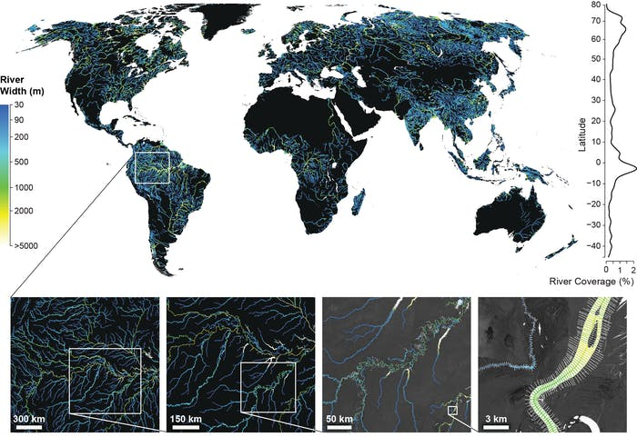 rivers Landsat (GRWL) Database