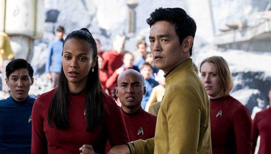The larger crew of the Star Trek Enterprise