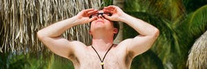 total solar eclipse david baron jay pasachoff chaser npr science aruba shirtless man shades goggles palm trees