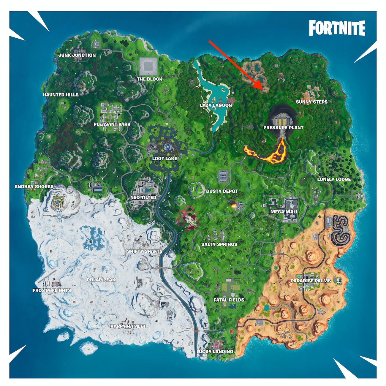 fortnite season 10 week 8 loading screen map