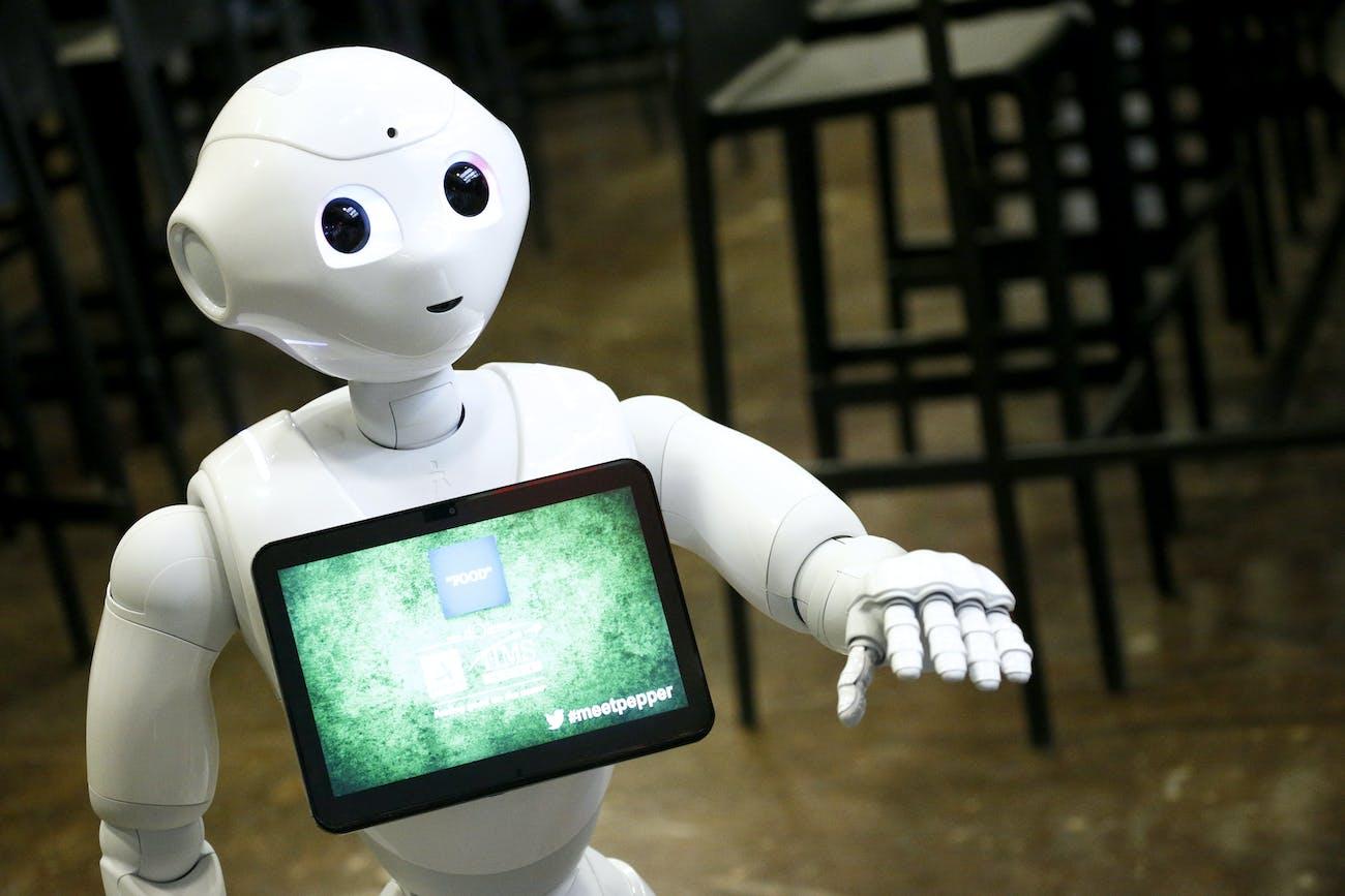 Pepper the robot.