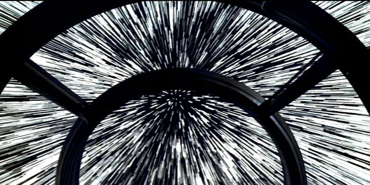star wars cockpit hyperspace