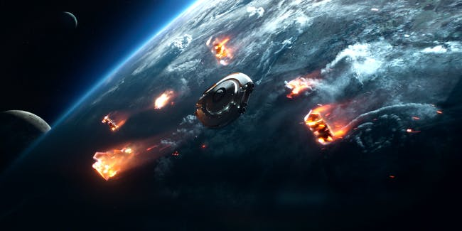 The Jupiter 2 crashes in 'Lost in Space'
