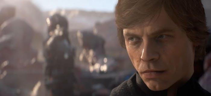 Luke Skywalker in 'Star Wars: Battlefront II'.