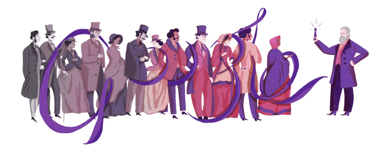 The final doodle as displayed on the homepage.