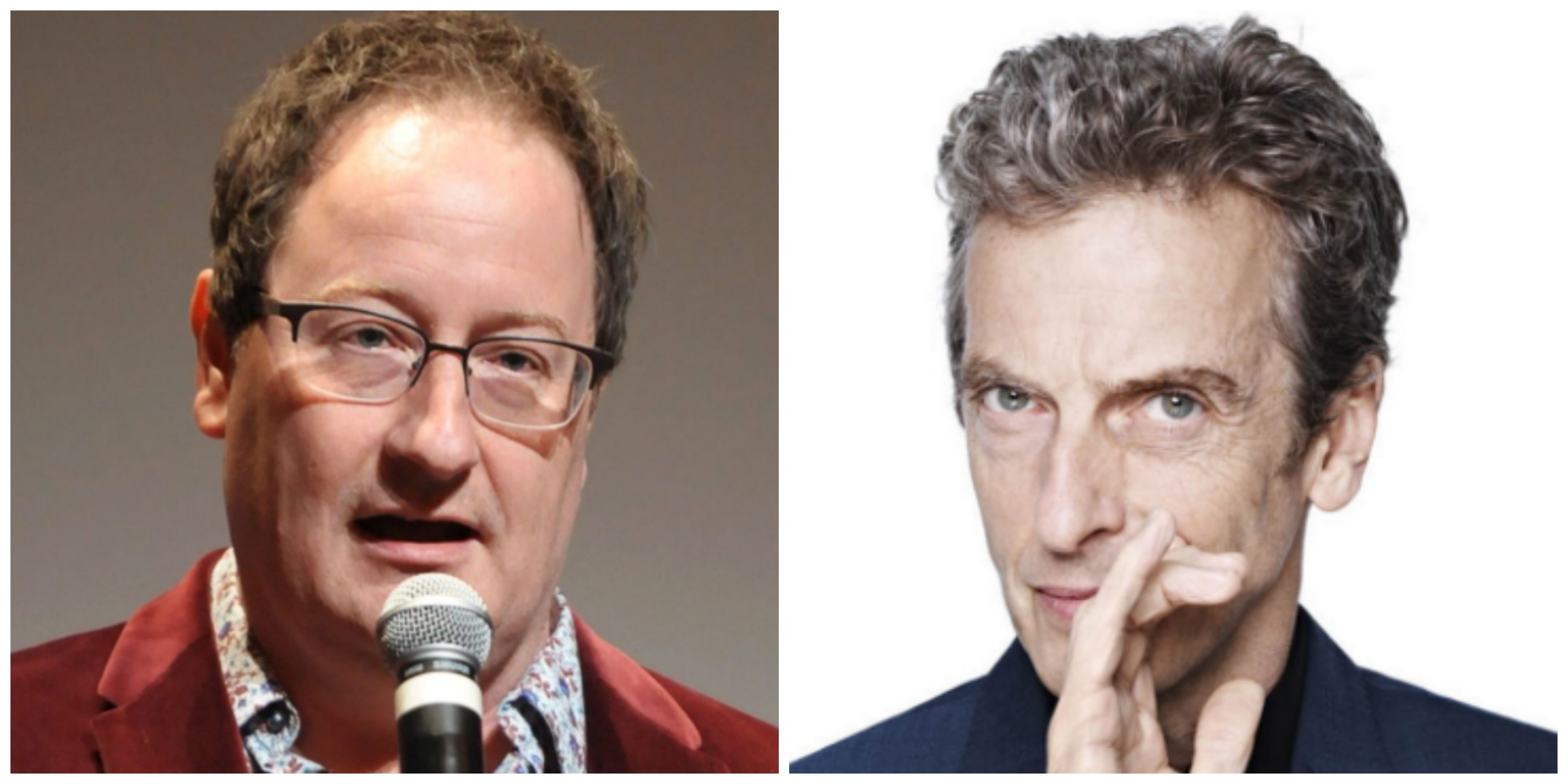 LEFT: New 'Doctor Who' showrunner Chris Chibnall. RIGHT: Current star Peter Capaldi.