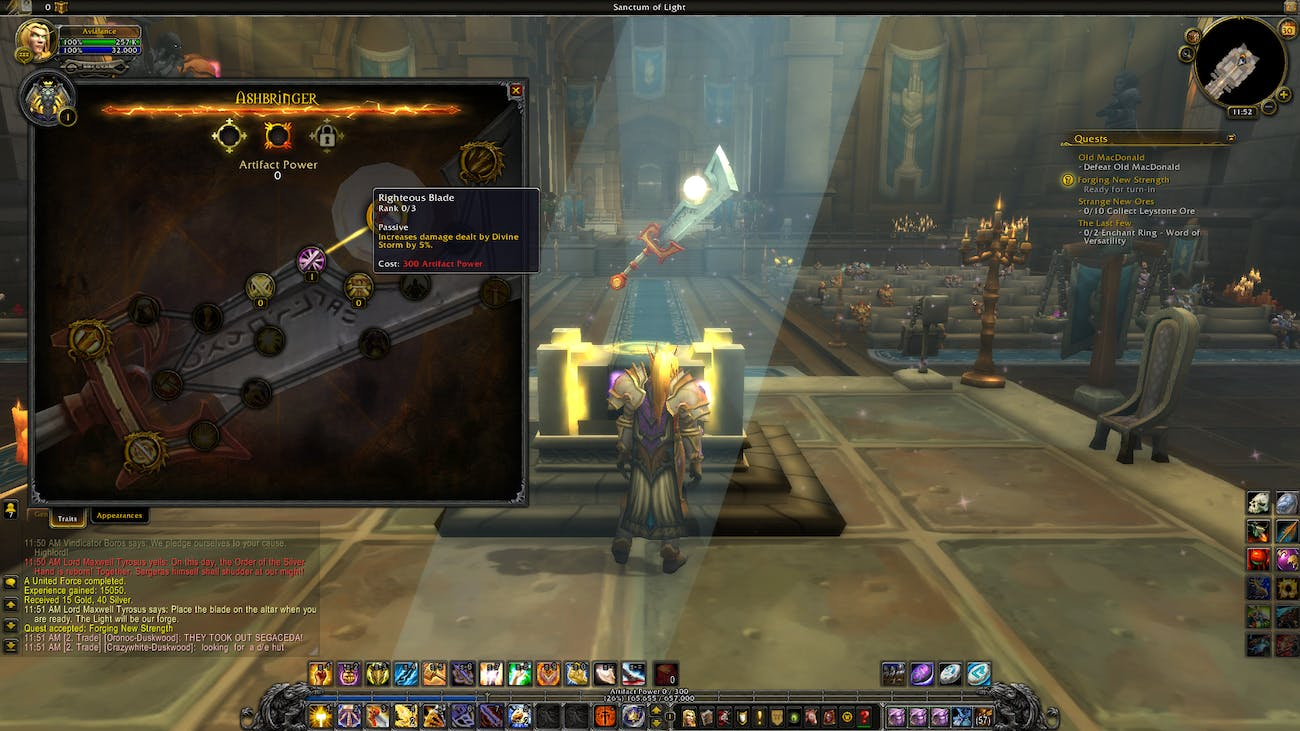 How Artifact Weapons Work in 'World of Warcraft: Legion