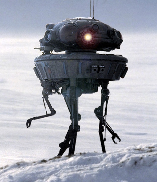 The probe droid as it appears in Empire.