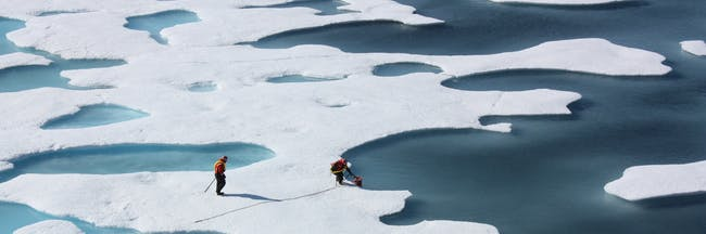 ICESCAPE Researchers; Ponds on the Ocean