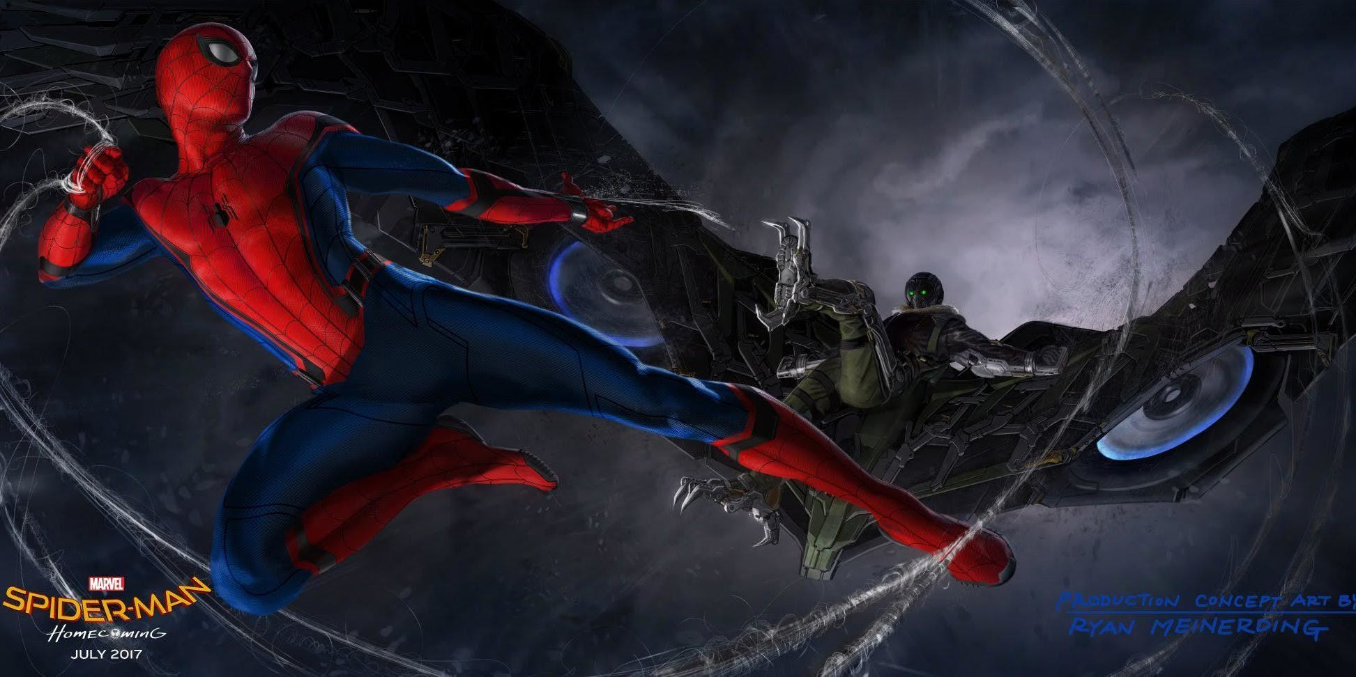 Spider-Man and Vulture in Spider-Man: Homecoming from Marvel