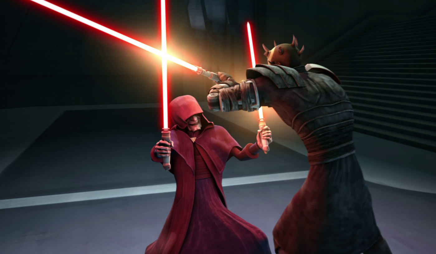 Darth Sidious in action in 'The Clone Wars'
