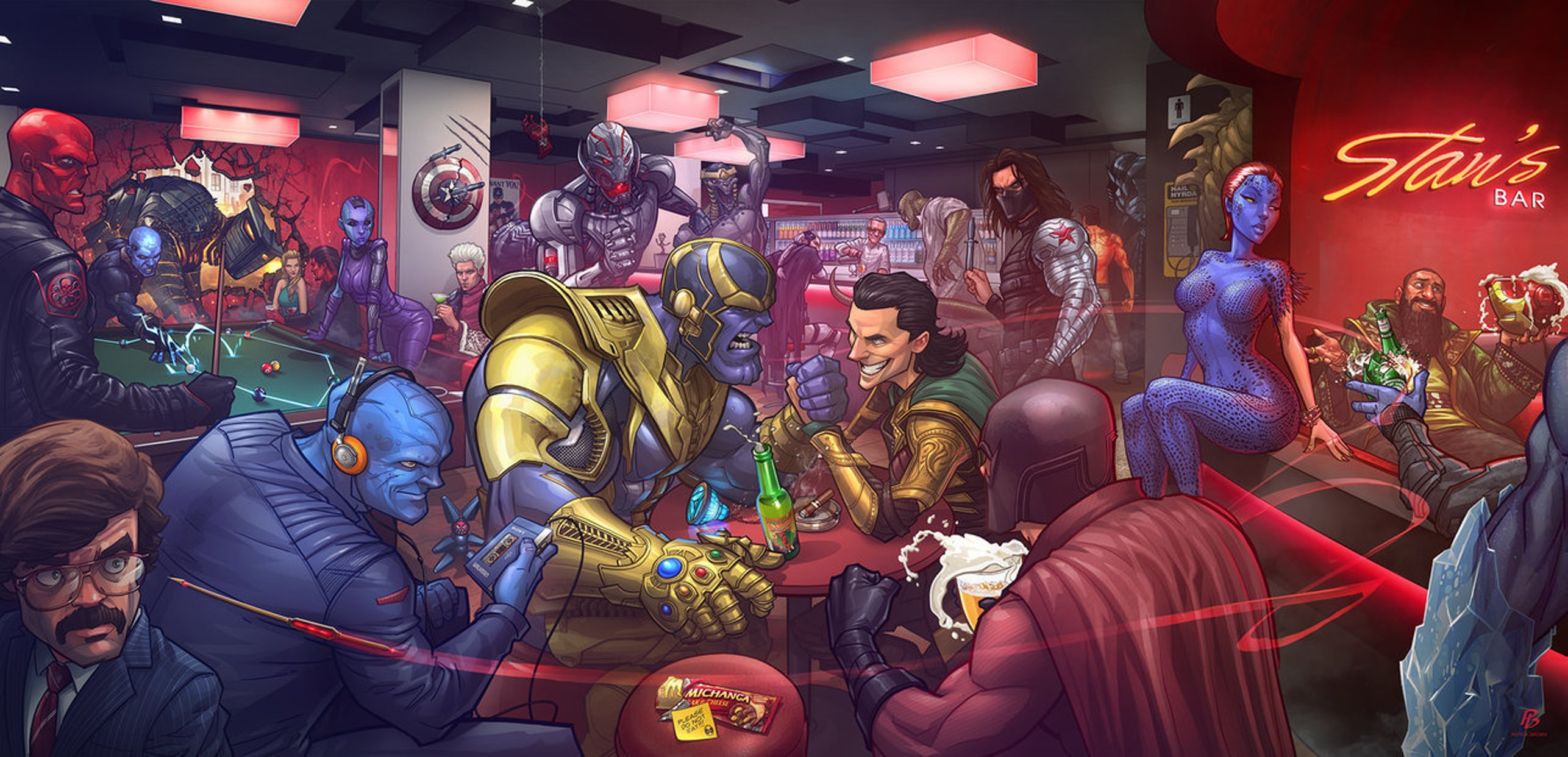 """Marvel Villains"" by Patrick Brown, DeviantArt"