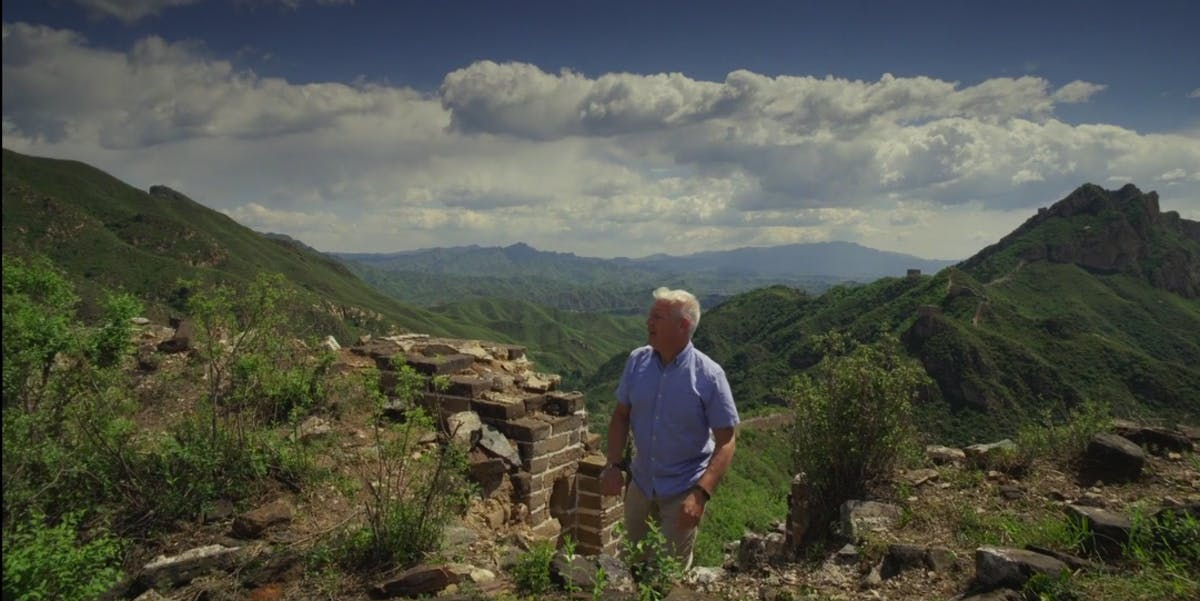 Steve Burrows at the Great Wall of China.