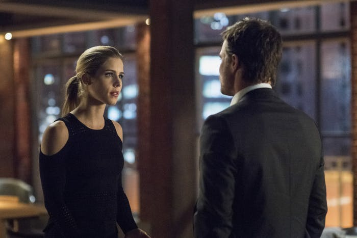 Felicity and Oliver are not seeing eye to eye.