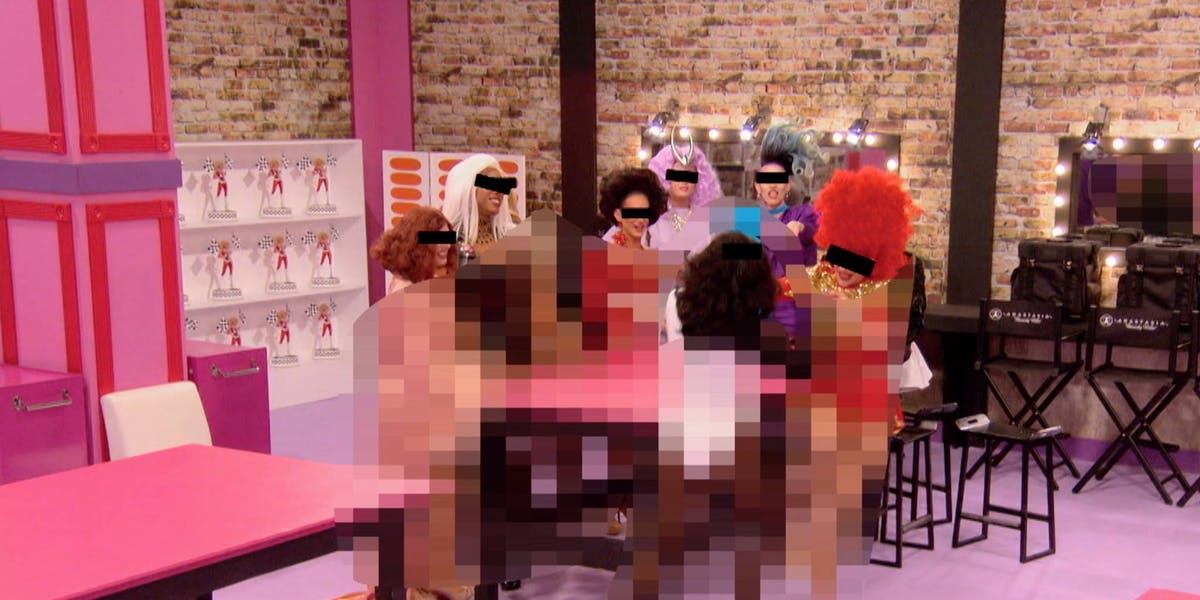 This is what an episode of RuPaul's Drag Race looks like with Logo's Day of Disruption censoring