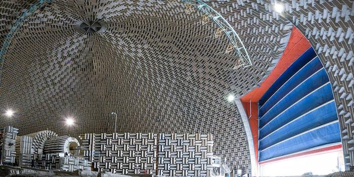 NASA aero-acoustic propulsion lab dome