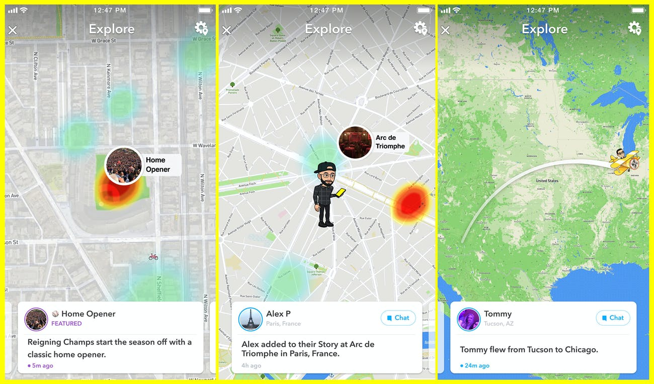 Snapchat\'s New \'Explore\' Feature Curates Snap Map to Find Friends ...