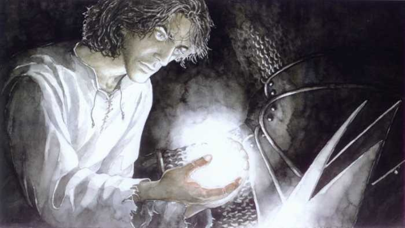 Beren taking one of the three Silmarils from Melkor.