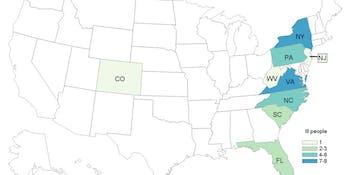 cdc calmonella map