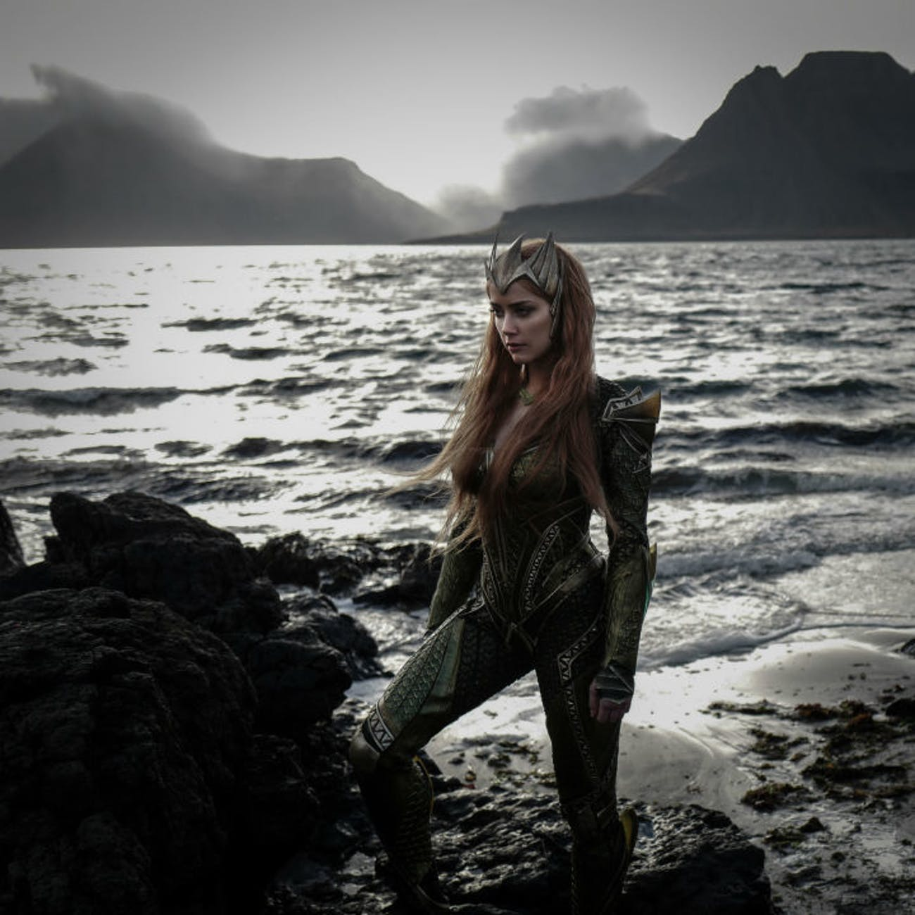 Amber Heard as Mera in pre-production still from Justice League by Zack Snyder
